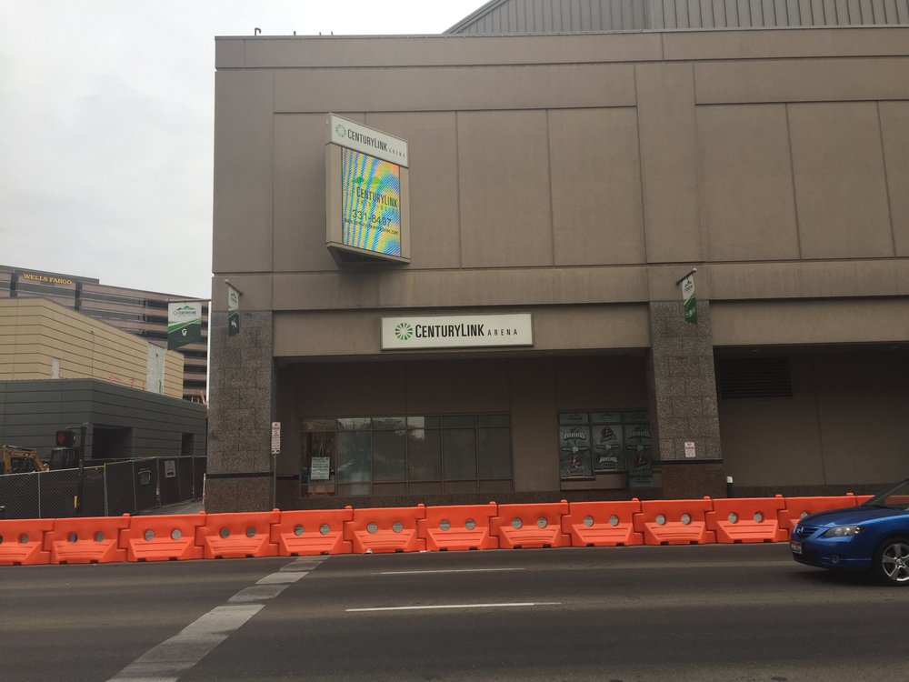 If adopted, a suggestion by Boise City planning staff would force building owners to remove the CenturyLink Arena sign and the two banners hanging off the face of the building among others. The electronic media center and flag hanging off the side would remain
