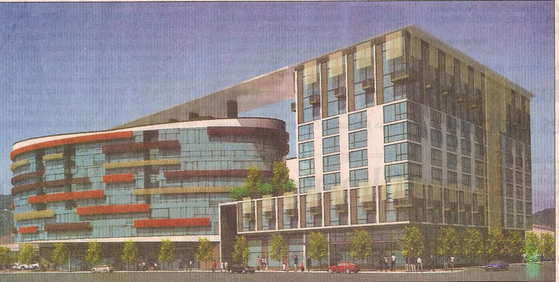 An early rendering of part of Mark Rivers' failed