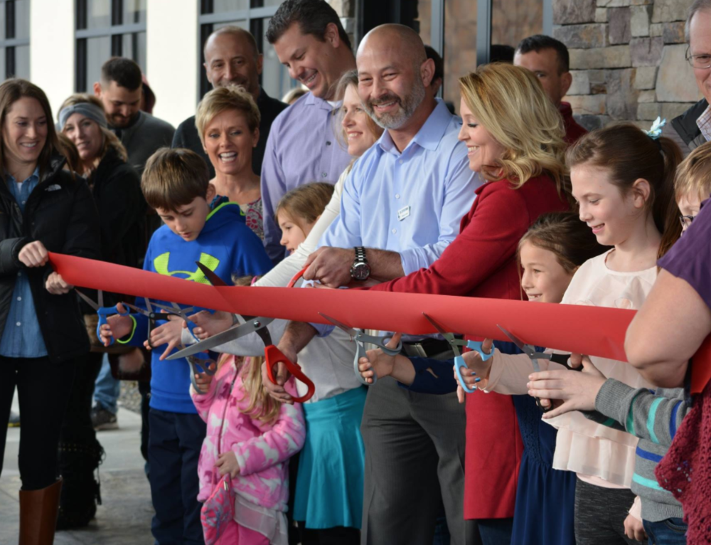 WestVet chief of staff Dr. Jeff Brourman and friends cut the ribbon on the new WestVet. Photo: WestVet Facebook.