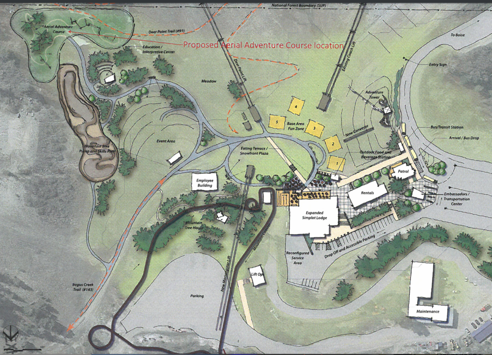 The new base area plan for summer