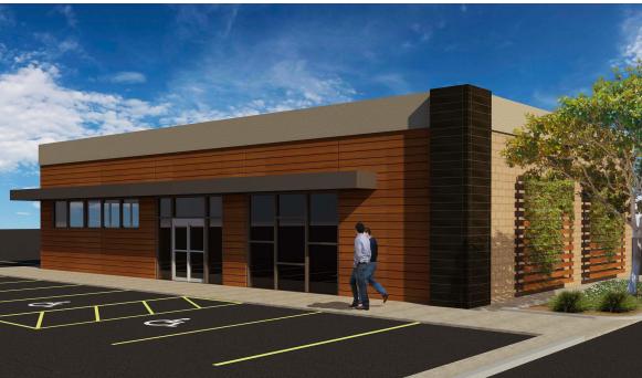Fuel center rendering