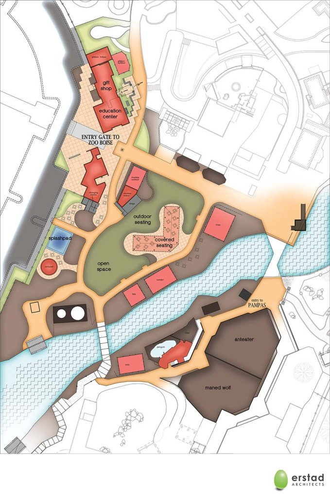 Site plan of the new entry area of the zoo. Click to enlarge.