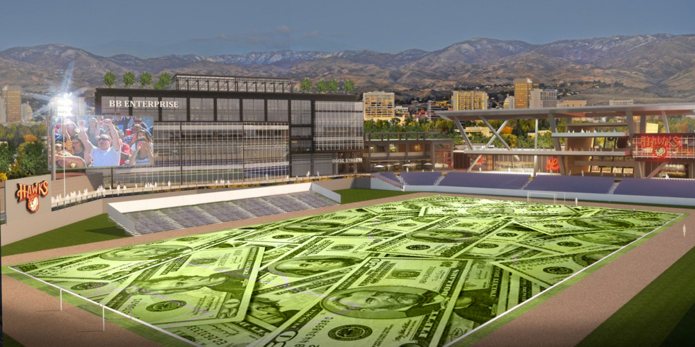 Field of money dreams. BoiseDev.com photo illustration