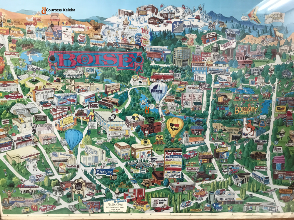Cartoon map gives glimpse of early 1990s Boise - BoiseDev