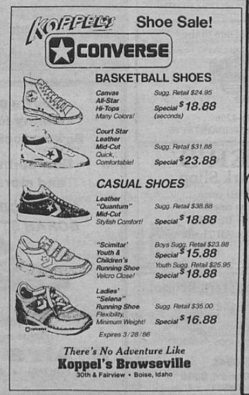 1986 Koppel's ad from The Borah Senator.
