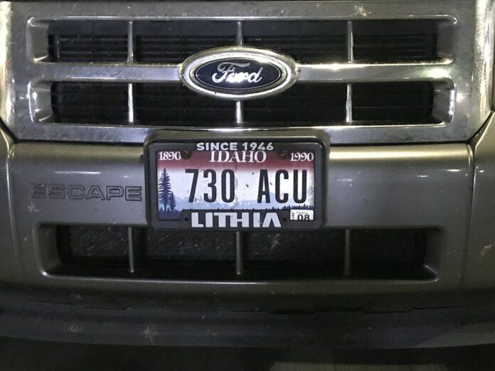 Idaho Centennial License Plate