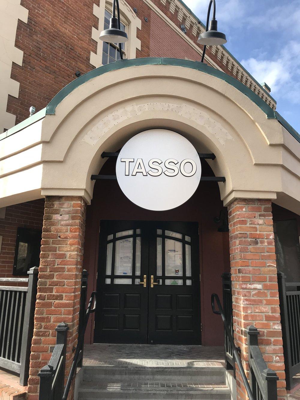 The entrance to the future Tasso. Photo by Joe Jaszewski
