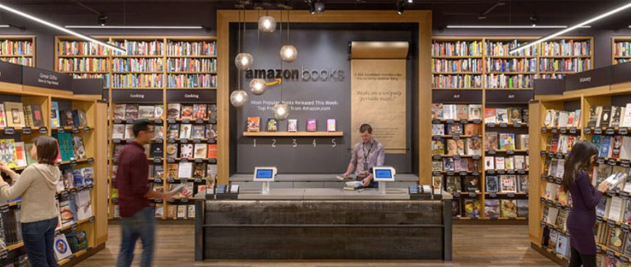 Amazon Books interior. Via Amazon.