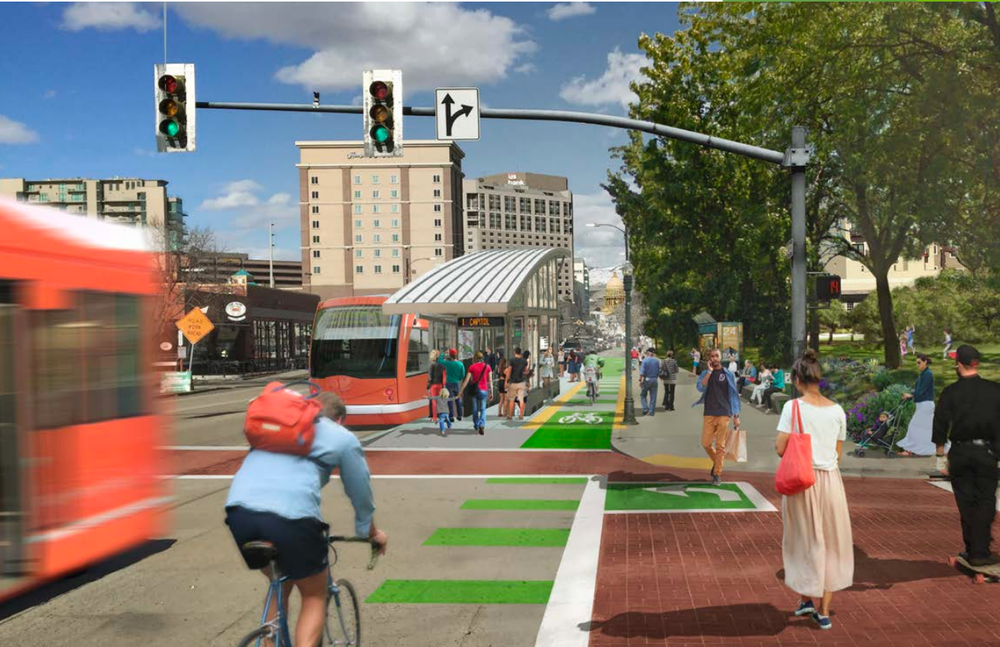 Rendering of possible Boise circulator. Courtesy City of Boise.