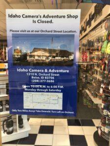 Idaho Camera shutters mall store