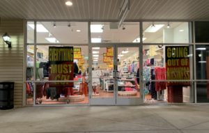 Another store at Boise's outlet mall is closing. There's not much left