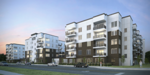 First residential development going up as part of Village at Meridian