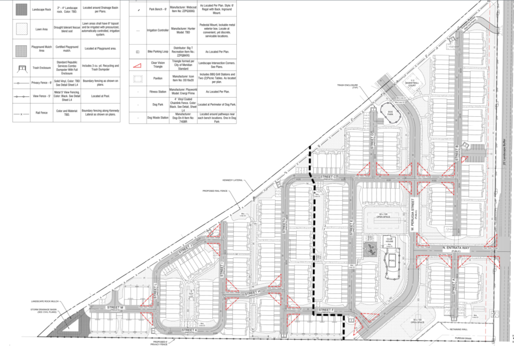 Entrata Farms site plan
