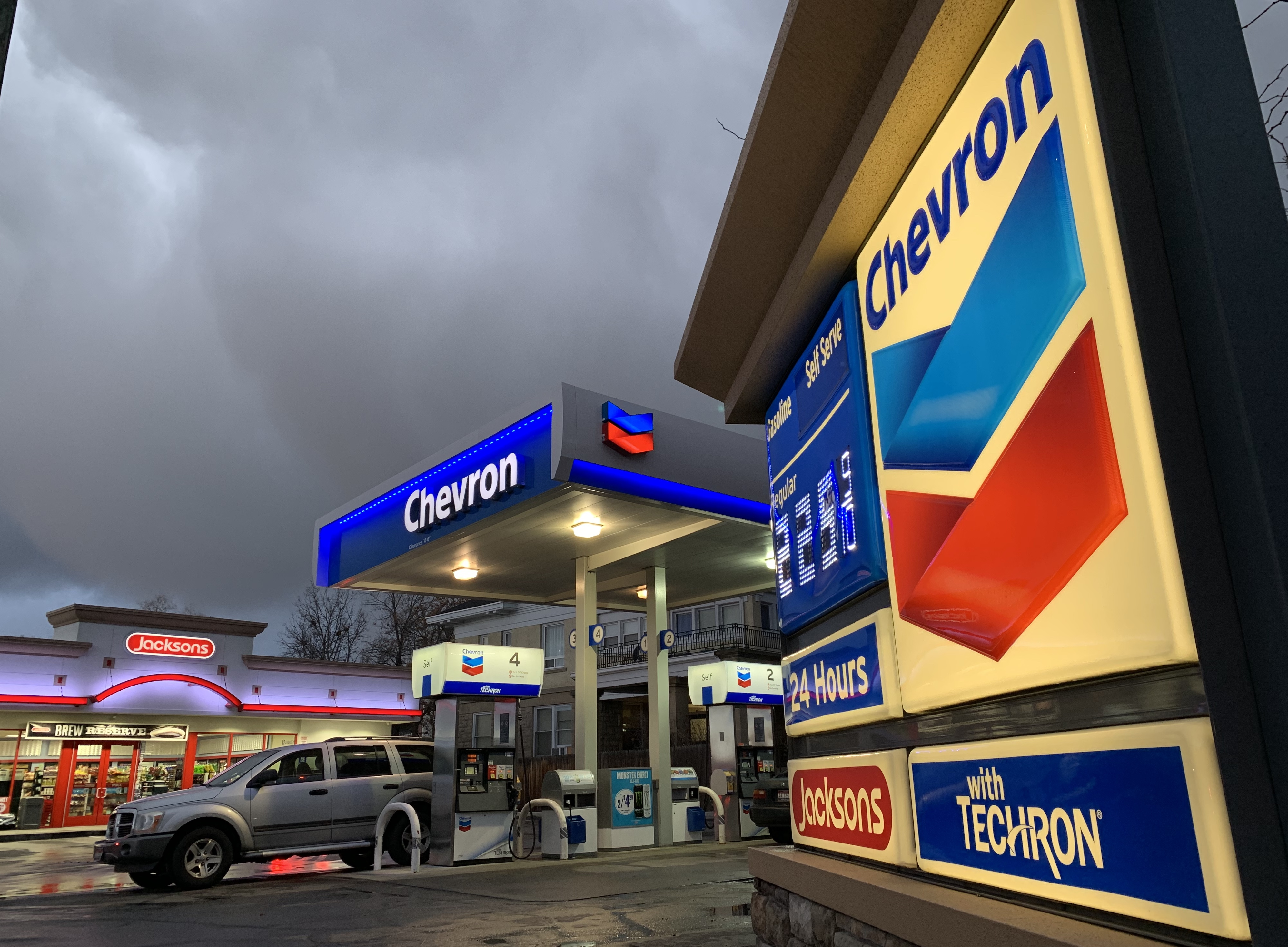 Chevron Gas Station Locations Map on