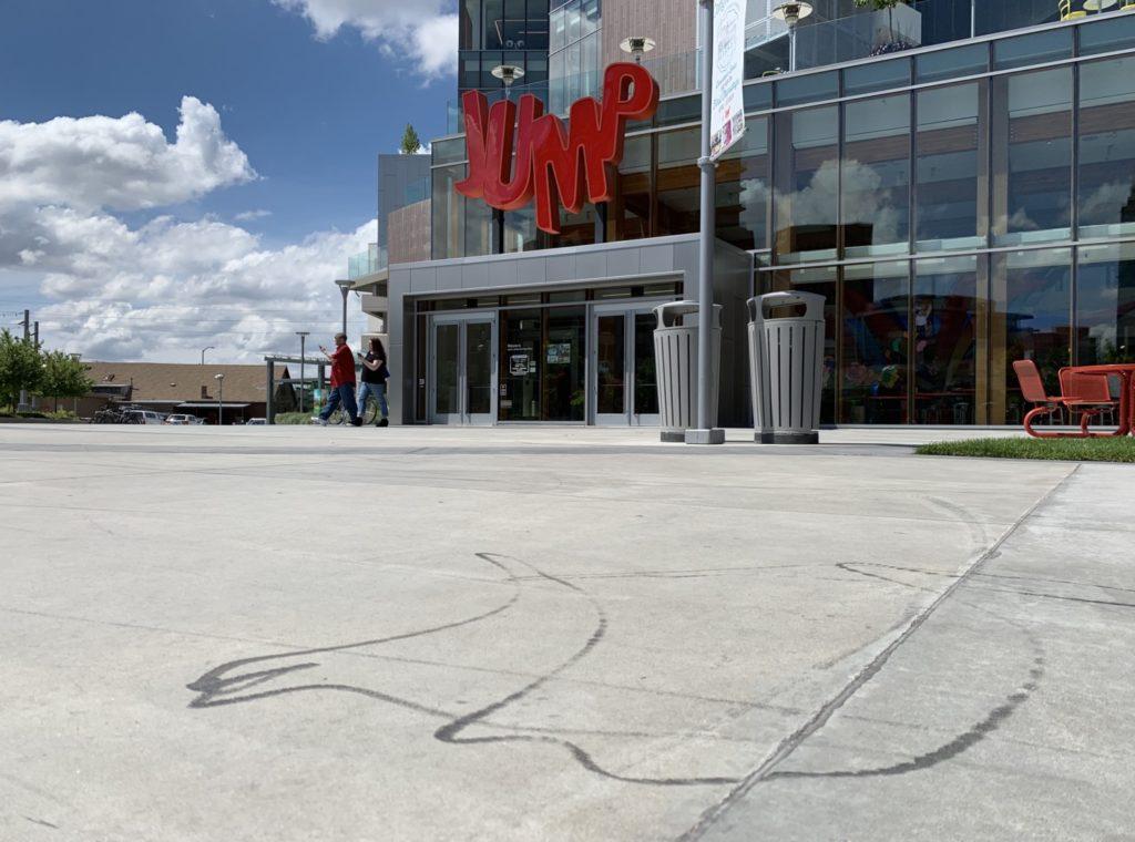 JUMP scooter vandalism