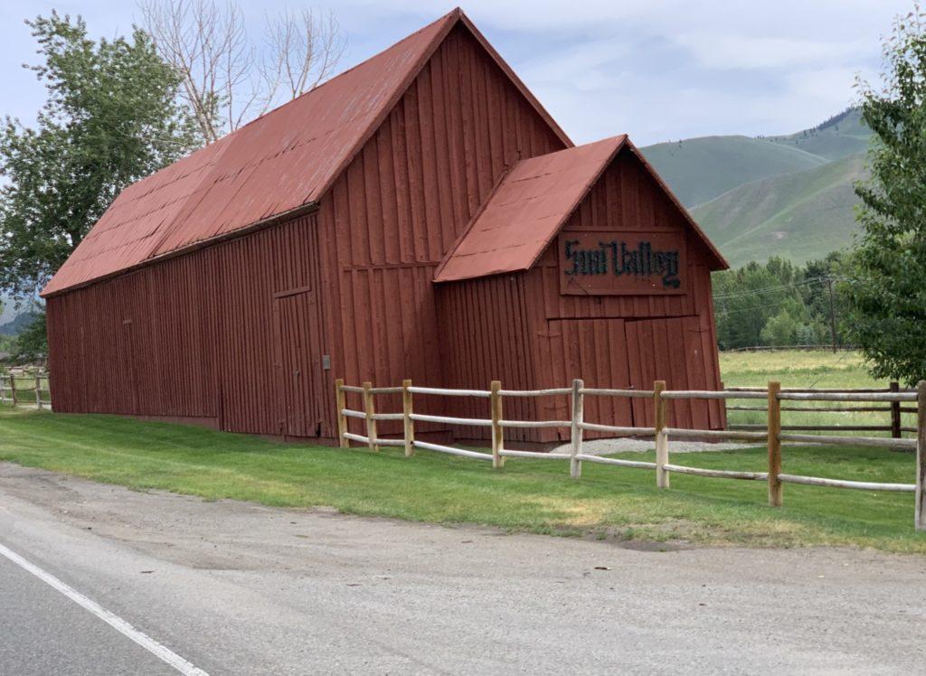 The Sun Valley resort red barn