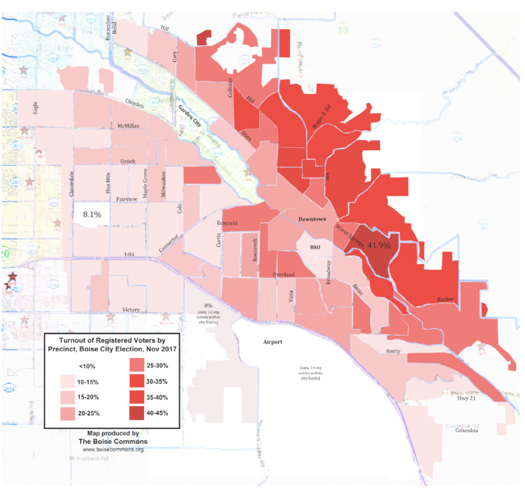 Boise turnout map