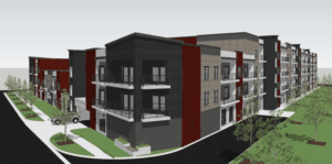 Large apartment project on decaying Boise gym site takes shape