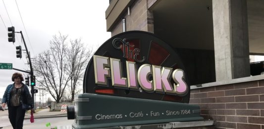 The Flicks sign