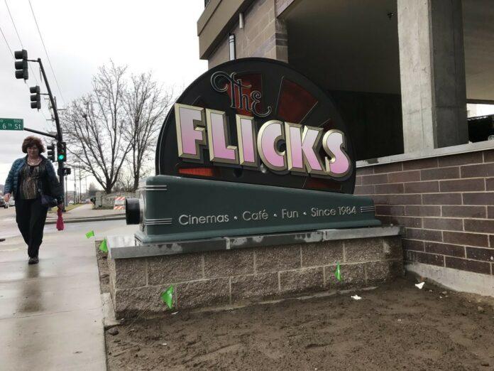 The Flicks sign