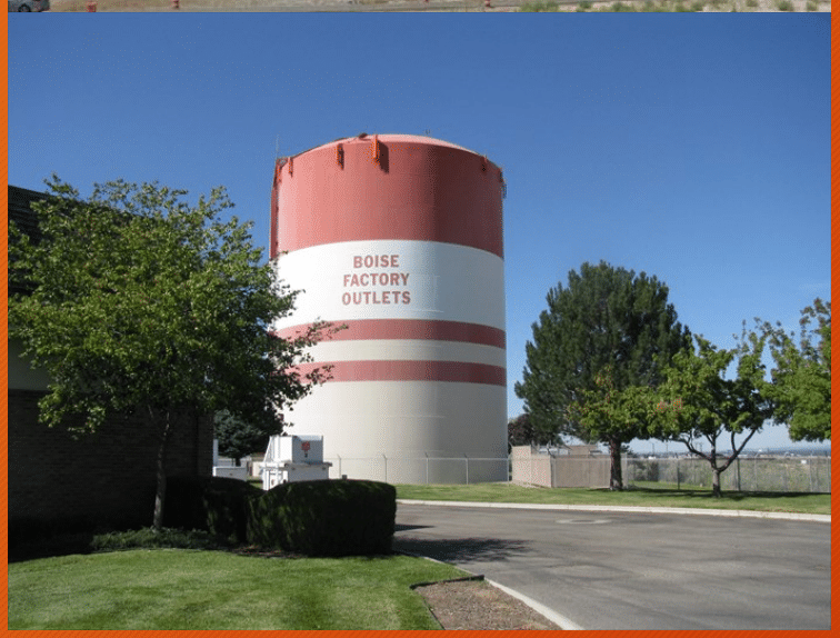 Boise Outlets water tower