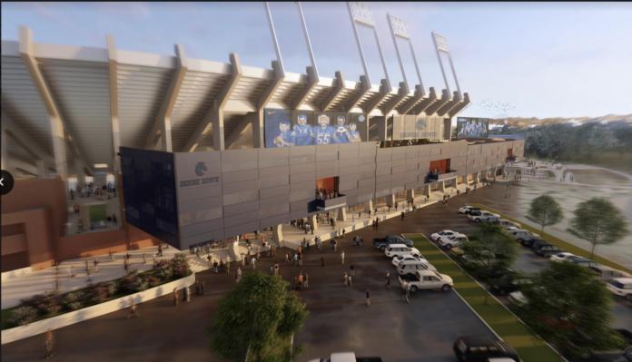 Albertsons Stadium east side