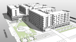 Large mixed-use project for apartments, retail, office towers takes shape in Downtown Meridian