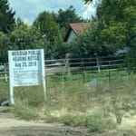 Meridian public hearing sign