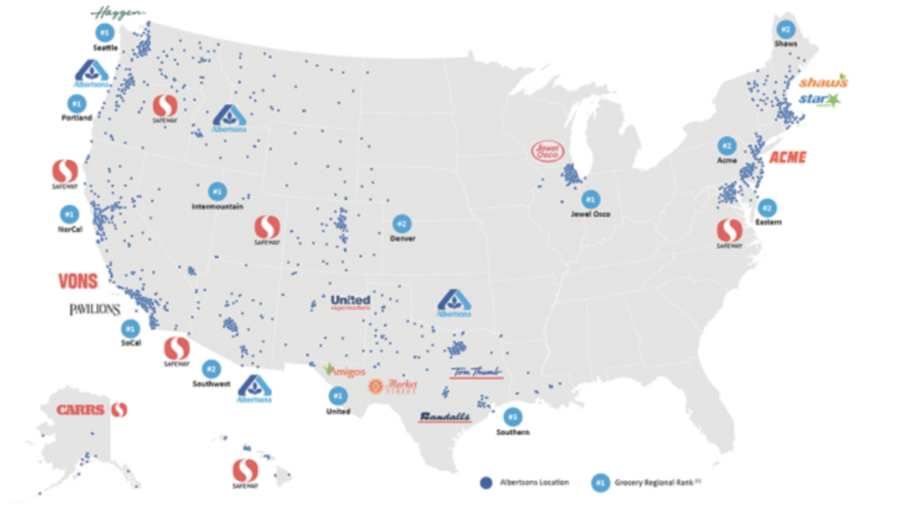 Albertsons stores map