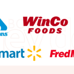 Albertsons, Winco, Boise Co-Op, Walmart and Fred Meyer