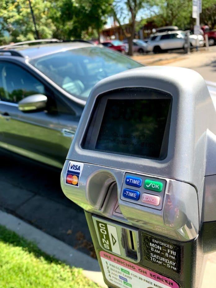 Parking meter in Boise