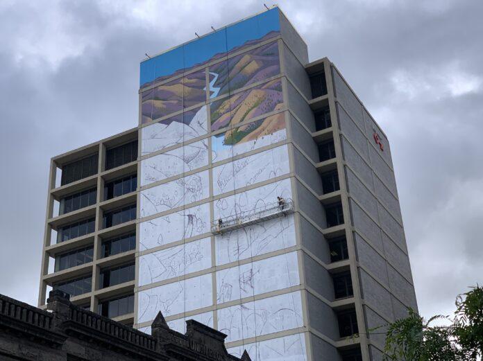 Key Financial Center mural