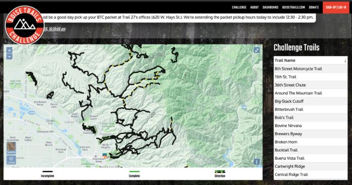 Boise Trails Challenge Map