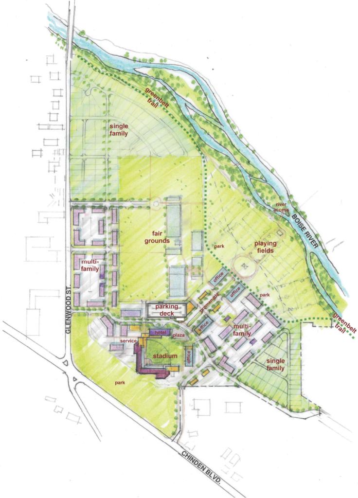 Expo Idaho site plan