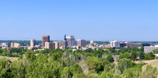 Downtown Boise from Military Reserve