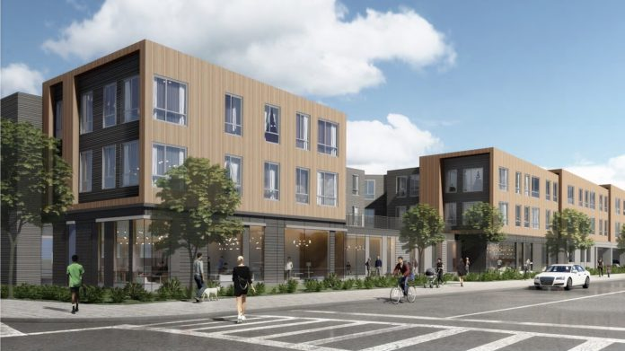Boise Ave at Protest Hill rendering