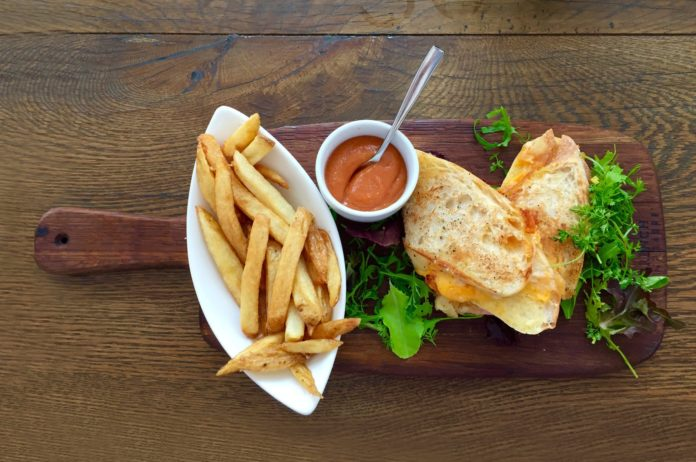 bread food sandwich wood