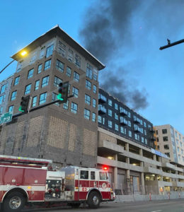 Building under construction  catches fire in downtown Boise