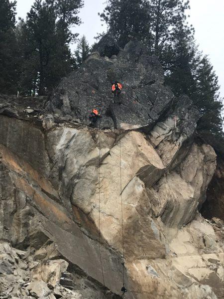 Idaho 55 rock slide
