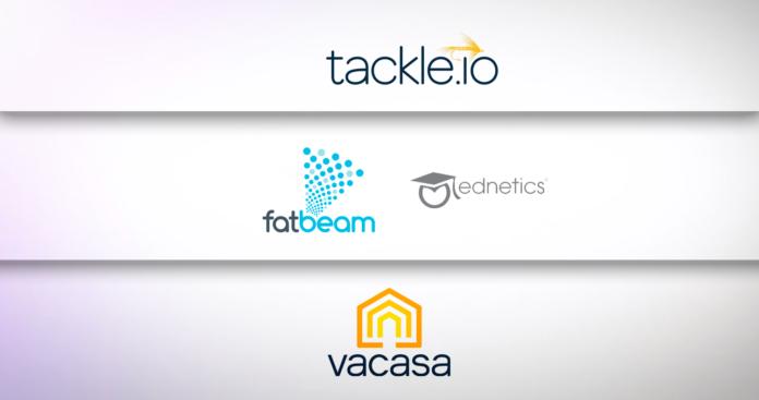 Tackle.io, Vacasa, FatBeam/Ednetics