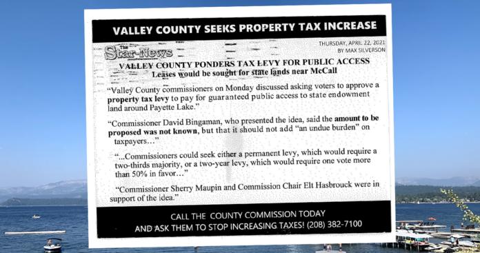 McCall tax postcard