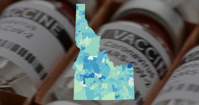 Idaho vaccine data by ZIP